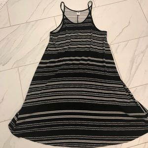 Old Navy black and white soft cotton dress size S